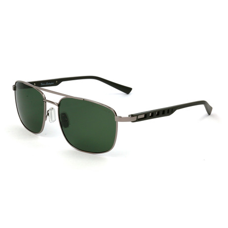 Men's TL317S S03 Polarized Sunglasses // Palladium + Green