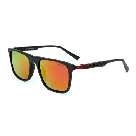 Men's TL911S S03 Polarized Sunglasses // Brown + Red