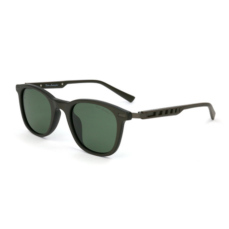 Men's TL310S S03 Polarized Sunglasses // Brown + Green