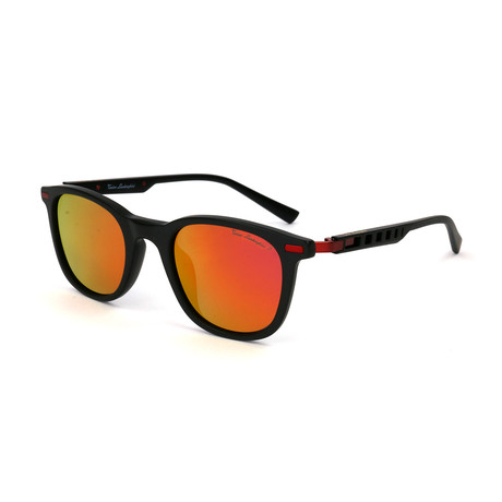 Men's TL310S S01 Polarized Sunglasses // Black + Red