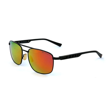 Men's TL317S S01 Polarized Sunglasses // Black + Red