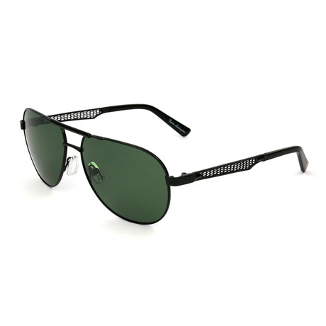 Men's TL330S S03 Polarized Sunglasses // Black + Green