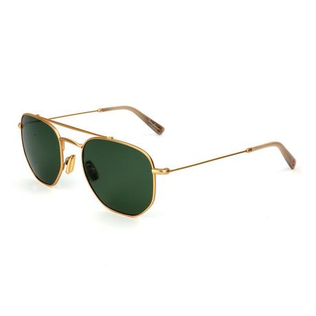 Men's TL331S S01 Polarized Sunglasses // Gold + Green