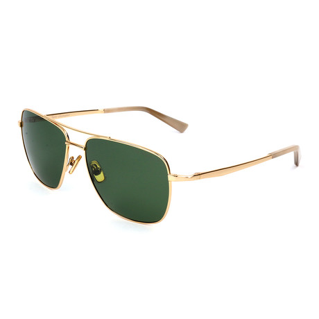 Men's TL904S S01 Polarized Sunglasses // Gold + Green