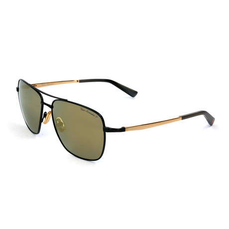 Men's TL904S S03 Polarized Sunglasses // Black + Gold