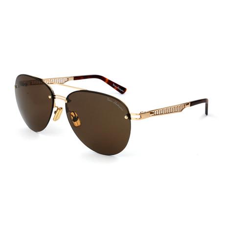 Men's TL603S S02A Sunglasses // Gold + Brown