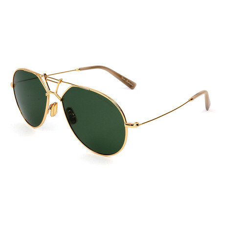 Men's TL910S S01 Polarized Sunglasses // Gold + Green