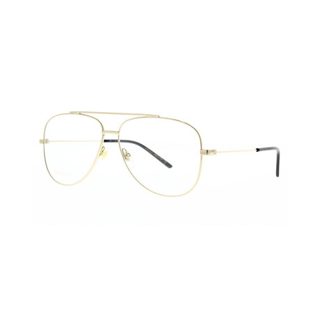Gucci // Men's Optical Frames // Gold