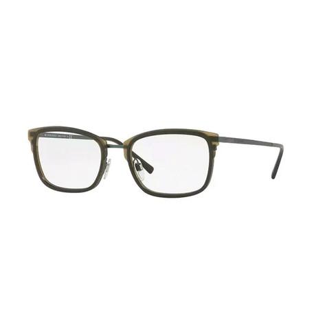 Burberry // Men's Optical Frames // Matte Green