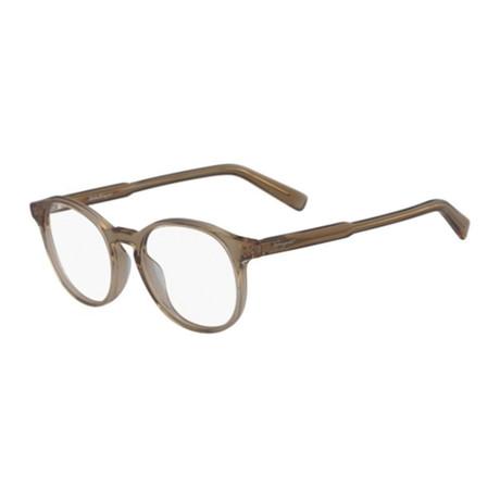 Ferragamo // Men's Optical Frames // Crystal Brown
