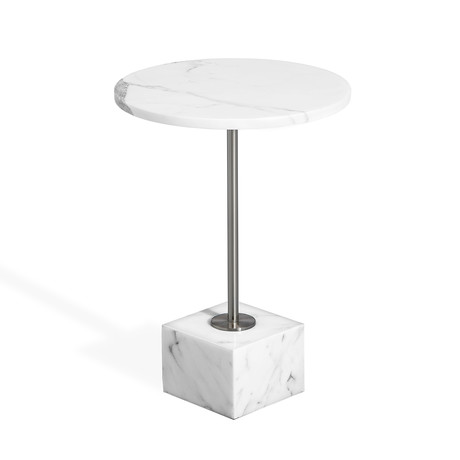 Rian Marble Side Table // Arabescato