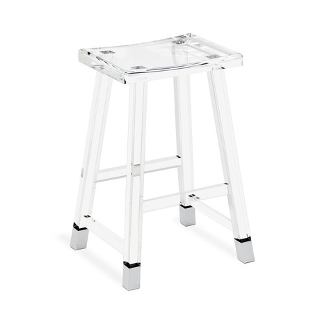 Reva Counter Stool (Nickel)