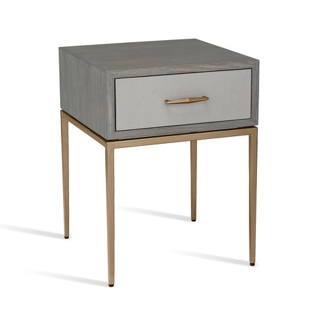 Corinna Bedside Table // Gray