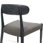 Adeline Dining Chair // Set of 2 (Charcoal)