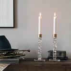 Carat Candlestick // Brass // Set of 2 (Medium)
