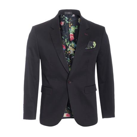 Cotton Stretch Fashion Blazer // Black (S)