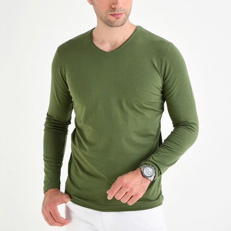 Amazon V-Neck Long Sleeve // Green (XS)