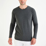 Nile Long Sleeve T-Shirt // Anthracite (2XL)