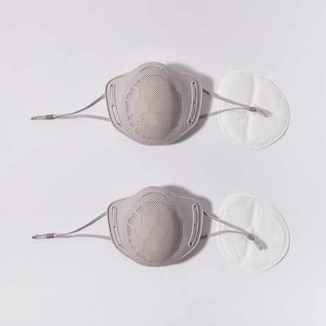 Reusable Silicone Mask // 2-Pack // Gray