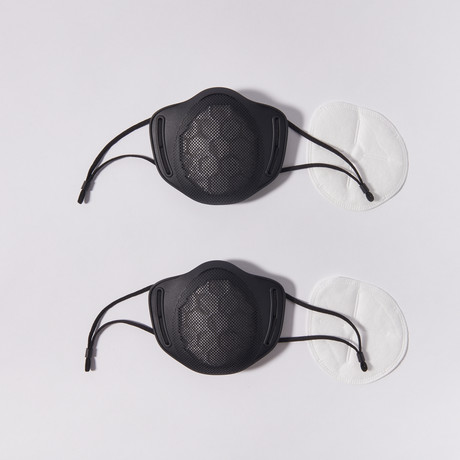 Reusable Silicone Mask // 2-Pack // Black