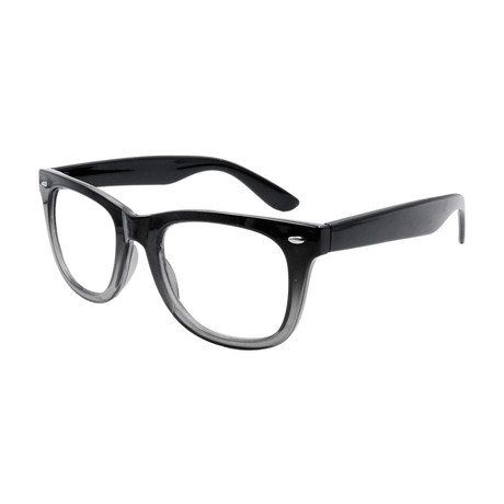 Unisex Elwood Blue-Light Blocking Readers // Black Fade Gray (+1.00)