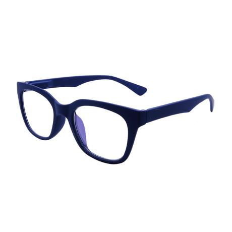 Unisex Millie Blue-Light Blocking Readers // Matte Blue (+0.00)