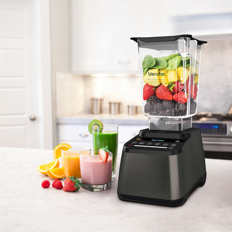 Designer 725 Blender + WildSide Jar (Stainless Steel + Black)