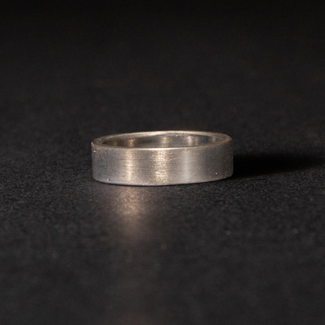 Shotgun Barrel Ring // Brushed Metal Finish (Size 8)