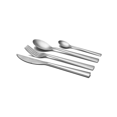 Oslo // 16-Piece Precision-Forged Flatware Set // Satin Finish