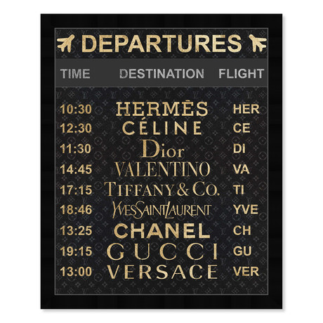 """Luxe Departures (22""""H x 19""""W x 0.5""""D)"""