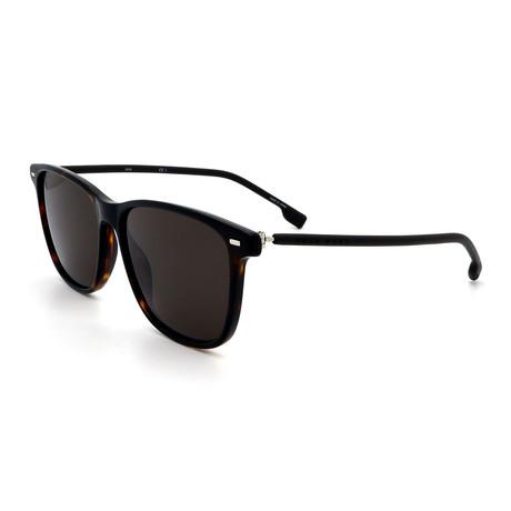 Hugo Boss // Men's 1009-S-0086 Rectangular Sunglasses // Havana + Black