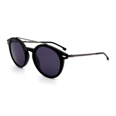 Hugo Boss // Men's 0929-S-0807 Round Sunglasses // Black