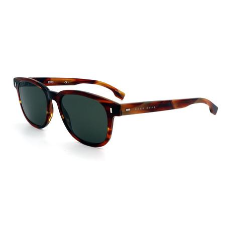 Hugo Boss // Men's 0956-S-EX4 Rectangular Sunglasses // Havana
