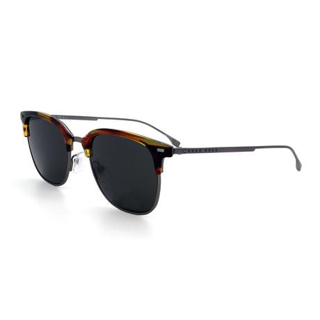 Hugo Boss // Men's 1099-F-S-003 Sunglasses // Black + Havana + Gray