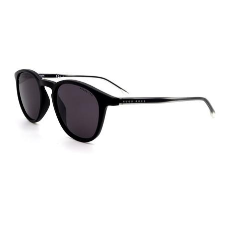 Hugo Boss // Men's 0964-S-003 Round Polarized Sunglasses // Matte Black