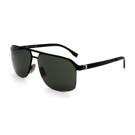 Hugo Boss // Men's 0839-S-003 Aviator Sunglasses // Black