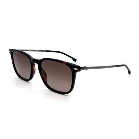 Hugo Boss // Men's 1020-S-0086 Sunglasses // Dark Havana + Brown Gradient