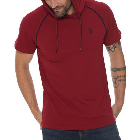 Luis Hoodie Shirt // Burgundy (Small)
