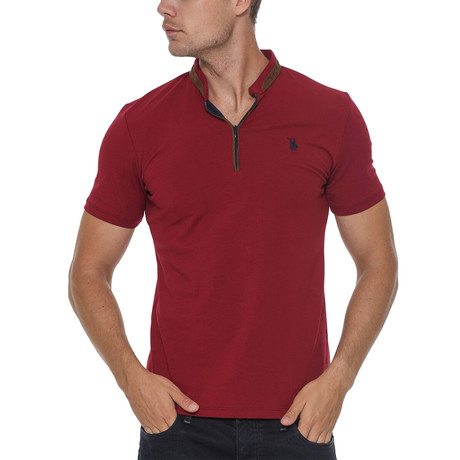 Erkek Shirt // Burgundy (Small)
