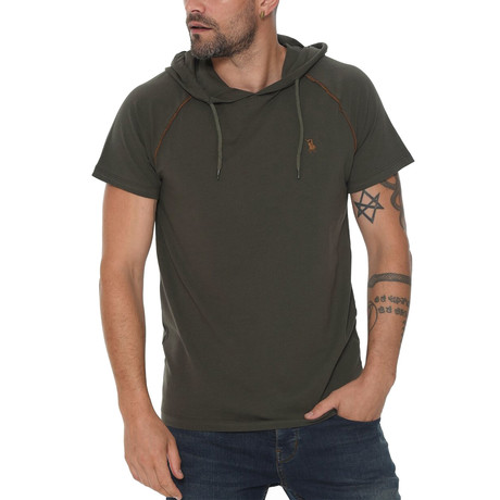 Luis Hoodie Shirt // Olive Green (Small)