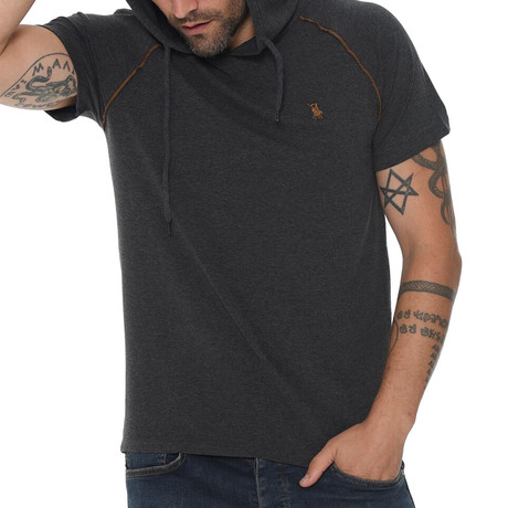 Luis Hoodie Shirt // Anthracite (Small)