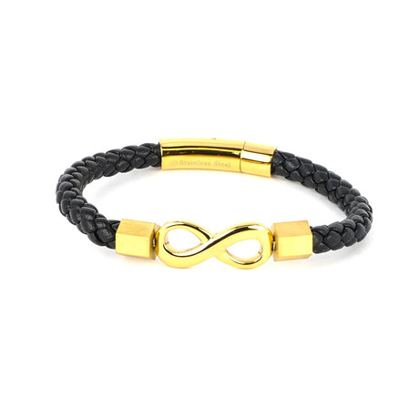 Dell Arte // Infinity Bracelet // Black + Gold