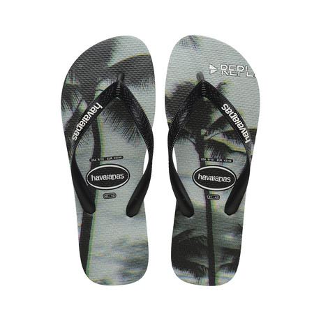 Top Photoprint Sandal // Black + Steel Gray (US: 8)