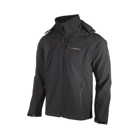 Hooded Zip Up Jacket // Black (XS)