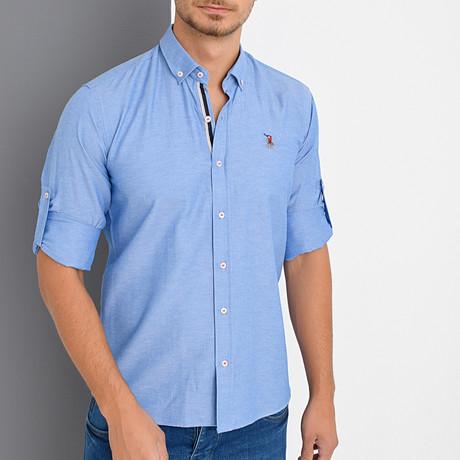 Louis Button Down Shirt // Sax (Small)