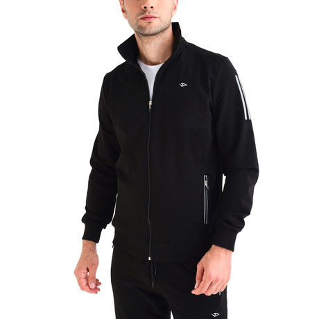 Stephens Track Top // Black (S)