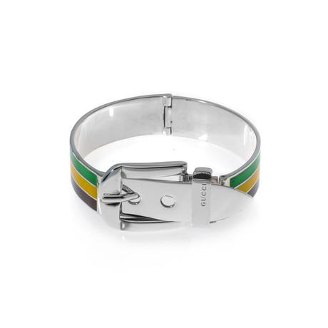 Gucci Sterling Silver Stripe Bracelet // Store Display