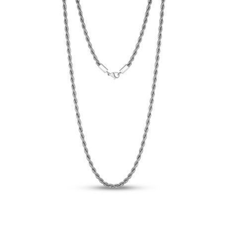 "Steel Rope Chain Necklace // 4mm // White (20""L)"
