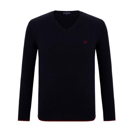 Clayton V-Neck Sweater // Navy (S)