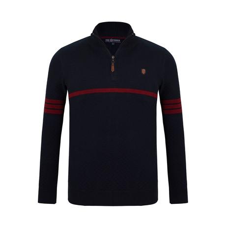 Alvin Quarter-Zip Sweater // Navy (S)